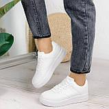 Женские кроссовки белые эко-кожа, фото 9