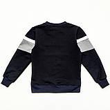 Реглан (свитшот) детский для мальчика р.104,110,116,122 SmileTime Future, темно-синий, фото 2