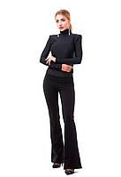 Женские стильные брюки клеш на широком поясе., фото 1