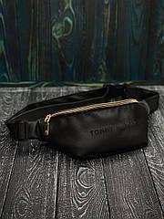 Бананка  Мужская | Женская черная Tommy Hilfiger сумка на пояс