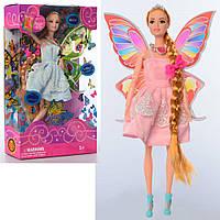 Лялька 8811-4 шарнірна, фея, довге волосся, гребінець, 2 види, кор., 21-33-6 см