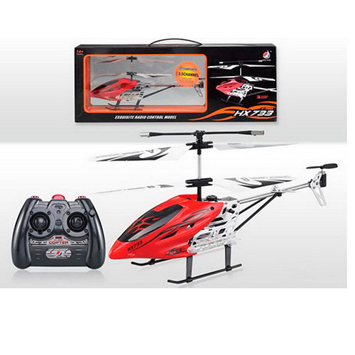Гелікоптер HX733 радіокер., акум., гіроскоп, 3 канала, USB, 2 кольори, світло, кор., 42-16-8 см