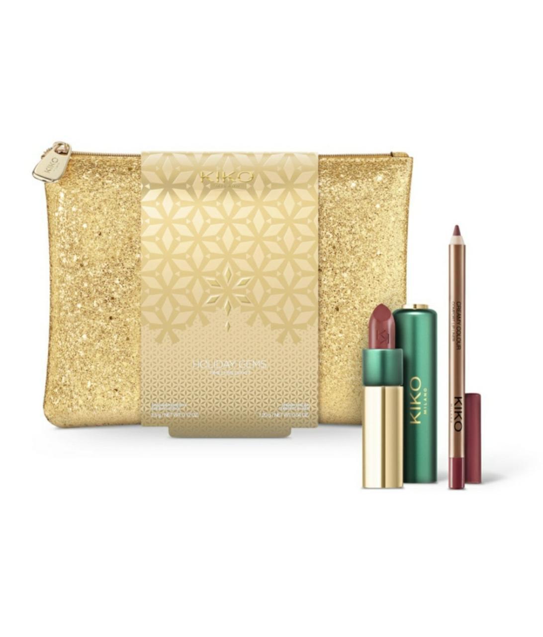 Набор помад и карандаш KIKO MILANO Holiday Gems Timeless Lip Kit
