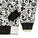 Реглан детский Микки р.98,104,110,116,122 SmileTime Cool Mickey, серый, фото 3