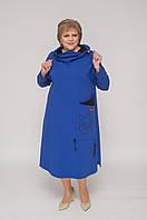 """Сукня трикотажне спортивне синього кольору з малюнком """"Кіт"""""""