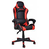 Кресло игровое с подушками стул с системой качания TILT кресло геймерское с наклоном спинки красное