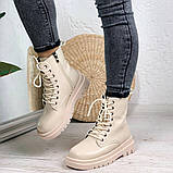 Женские ботинки ДЕМИ бежевые эко кожа весна/ осень, фото 3