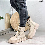 Женские ботинки ДЕМИ бежевые эко кожа весна/ осень, фото 8