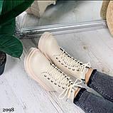 Женские ботинки ДЕМИ бежевые эко кожа весна/ осень, фото 5