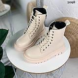 Женские ботинки ДЕМИ бежевые эко кожа весна/ осень, фото 7