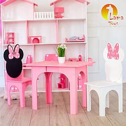 Комплект Lama Toys Микки стол + 2 стула Розовый