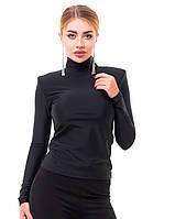 Женская трендовая водолазка с плечиками., фото 1