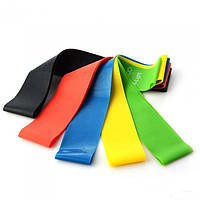 Резинка для фитнеса и спорта Esonstyle (эластичная лента эспандер) набор 5 шт в комплекте, фото 1