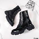 Жіночі демісезонні черевики, лакована шкіра, фото 9