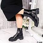 Жіночі демісезонні черевики, лакована шкіра, фото 4