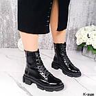 Жіночі демісезонні черевики, лакована шкіра, фото 2