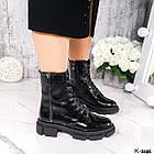 Жіночі демісезонні черевики, лакована шкіра, фото 3