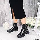 Жіночі демісезонні черевики, лакована шкіра, фото 5