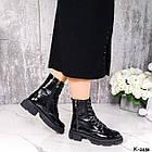 Жіночі демісезонні черевики, лакована шкіра, фото 6