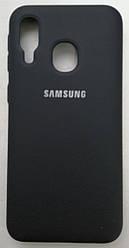 Силиконовый чехол-накладка Color Silk для Samsung A40 Black