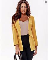 Женский приталенный деловой пиджак на подкладке, фото 1