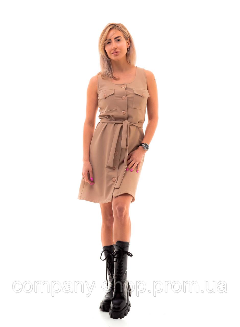 Женское платье в стиле сафари.