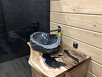 Стільниця в ванну кімнату з дерева Горіх, фото 1