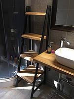 Мебель для ванной комнаты в стиле Лофт, столешница, стеллаж