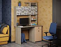 Уголок школьника-письменный стол с полками сверху