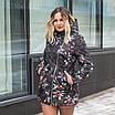 Женская куртка большого размера  весенняя  50-60 светлый принт, фото 6
