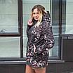 Женская куртка большого размера  весенняя  50-60 светлый принт, фото 7