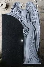Памятник с фигурой ангела с розами №87