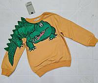 Батнік дитячій на хлопчика з Крокодилом 3-6 лет жовтий