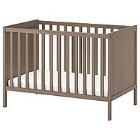 Дитяче ліжко, сіро-коричневе, 60х120 см, сандвік ікеа 702.485.64
