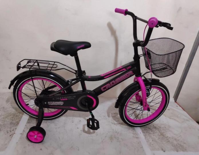 Дитячий двоколісний велосипед 16 дюймів Crosser Rocky зелений