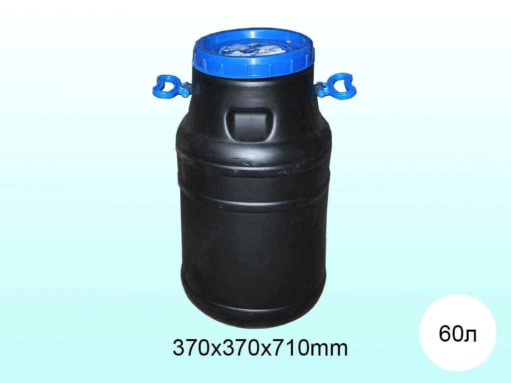 """Пластикова фляга технічна 60 літрів (А) горловина Ø 24 см """"ПЛАСТ БАК"""""""