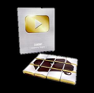 Набор из молочного шоколада «Лучший блогер Ютуб» 12 плиток OK-1121