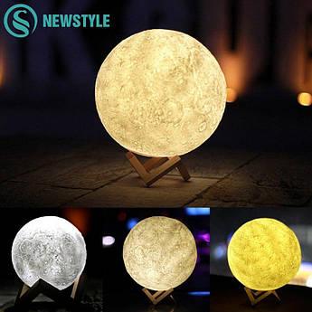 Ночник 3D светильник луна Moon Touch Control 15 см, 5 режимов