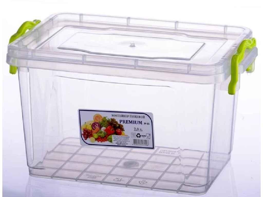 Контейнер харчовий високий №3 2,0л 4820143571108 ТМ AL-PLASTIK