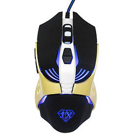Мышь Jiexin X13 USB Black/Gold  КОД: G101001188