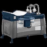 Кроватка-манеж Lionelo THOMI BLUE NAVY, фото 1