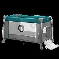 Кроватка-манеж Lionelo THOMI GREEN TURQUOISE, фото 1