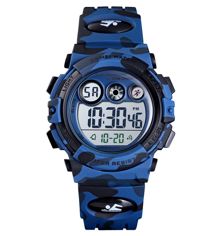 Skmei 1547 kids темно-синий камуфляж детские спортивные часы