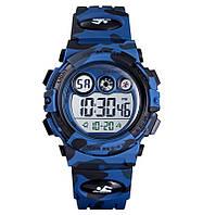 Skmei 1547 kids темно-синий камуфляж детские спортивные часы, фото 1
