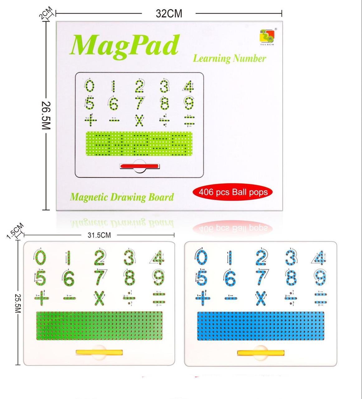 Доска учебная магнитная цифри