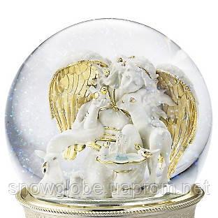 Подарок на юбилей стеклянный шар музыкальный Райский Сад