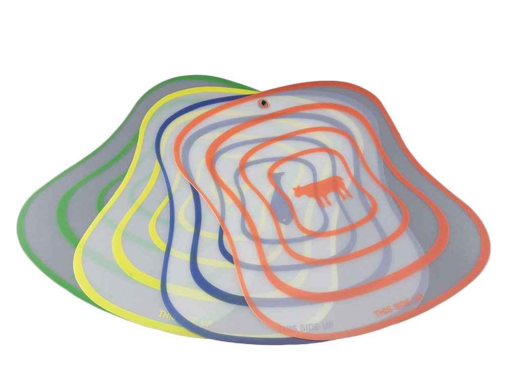 Набір дошок розділювальних пластик килимок Кухонний 4шт ТМ А-ПЛЮС