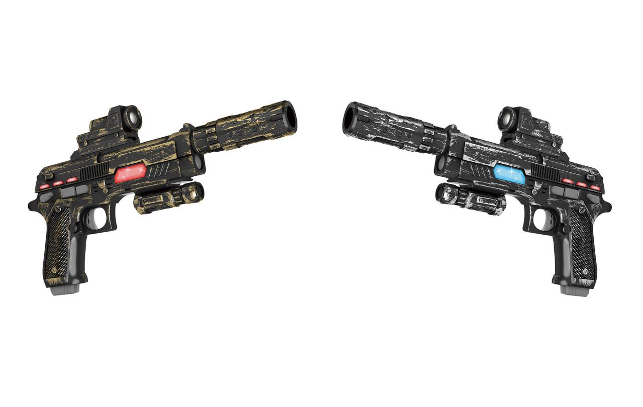 Пістолети з прицілом і глушником інфрачервоні