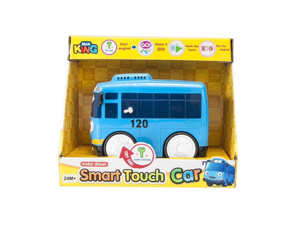 Машинка сенсорная - автобус, работает от батарей