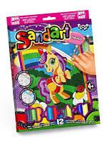 """Фреска из цветного песка """"Sandart"""" Пони SA-02-08"""
